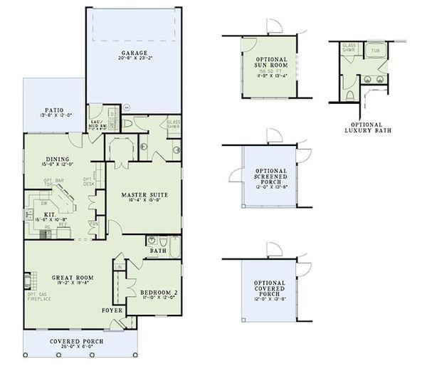 Traditional Floor Plan - Main Floor Plan Plan #17-2419