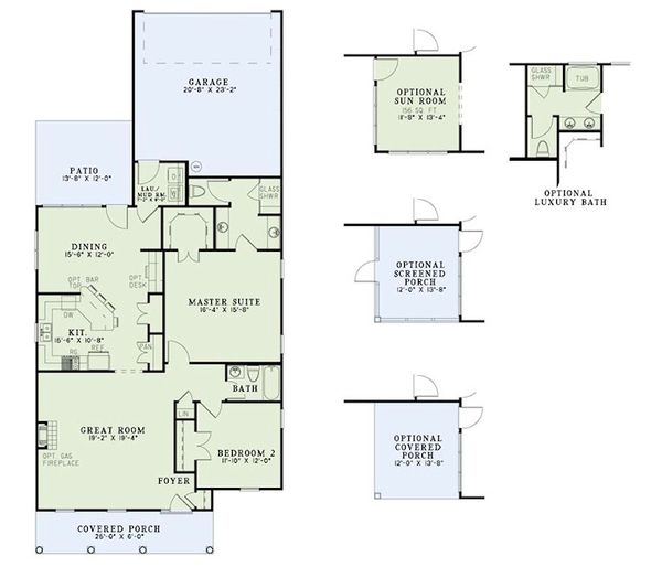 Traditional Floor Plan - Main Floor Plan #17-2419