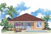 Mediterranean Style House Plan - 2 Beds 2 Baths 1727 Sq/Ft Plan #930-393 Exterior - Rear Elevation