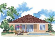 Home Plan - Mediterranean Exterior - Rear Elevation Plan #930-393