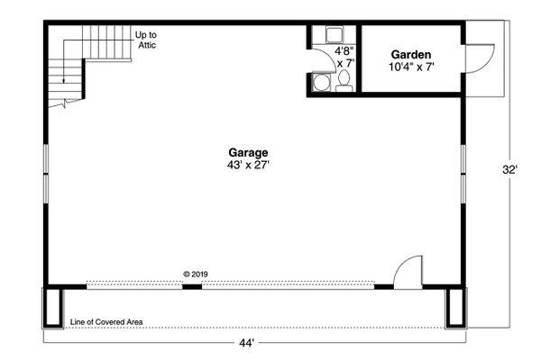 Architectural House Design - Traditional Floor Plan - Main Floor Plan #124-1225