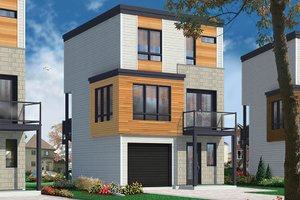 Architectural House Design - Contemporary Exterior - Front Elevation Plan #23-2600
