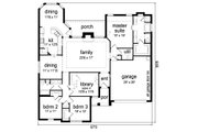 Traditional Style House Plan - 3 Beds 2 Baths 2140 Sq/Ft Plan #84-627 Floor Plan - Main Floor Plan