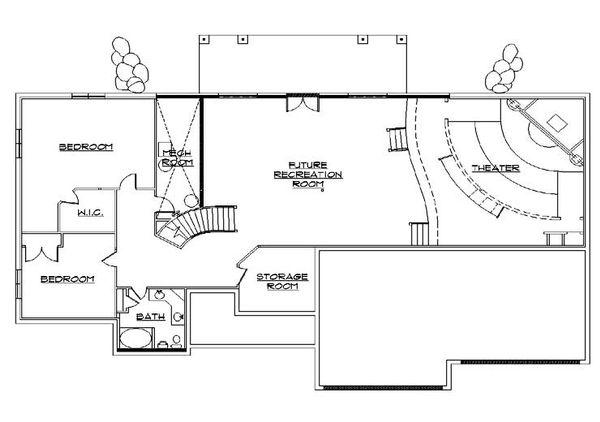 Traditional Floor Plan - Lower Floor Plan Plan #5-328