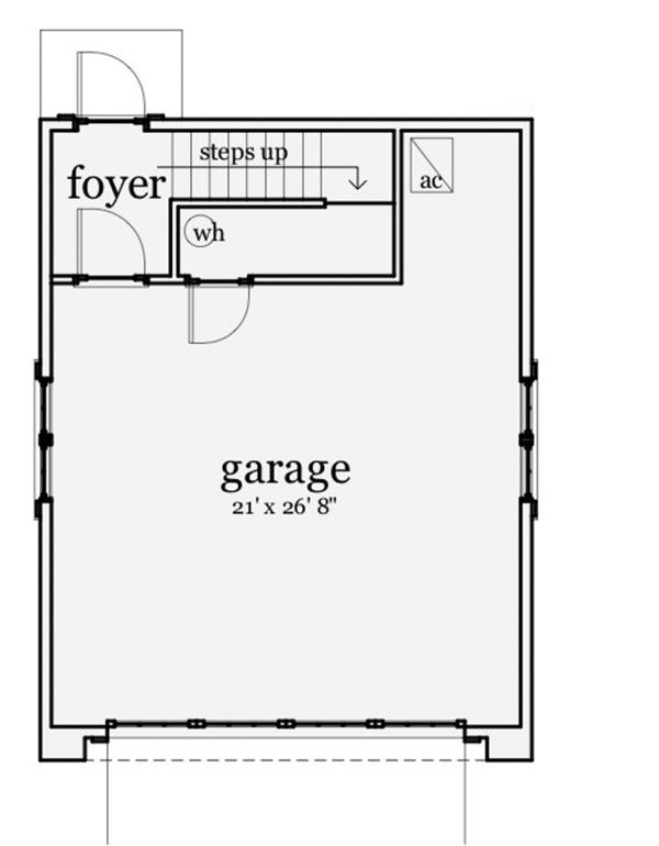 Craftsman Floor Plan - Main Floor Plan Plan #64-319