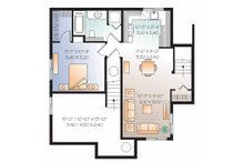 Country Floor Plan - Lower Floor Plan Plan #23-2503