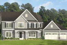 Colonial Exterior - Front Elevation Plan #1010-162