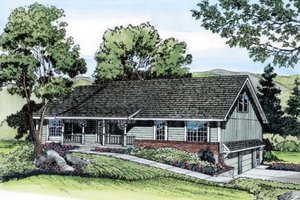 Ranch Exterior - Front Elevation Plan #312-289