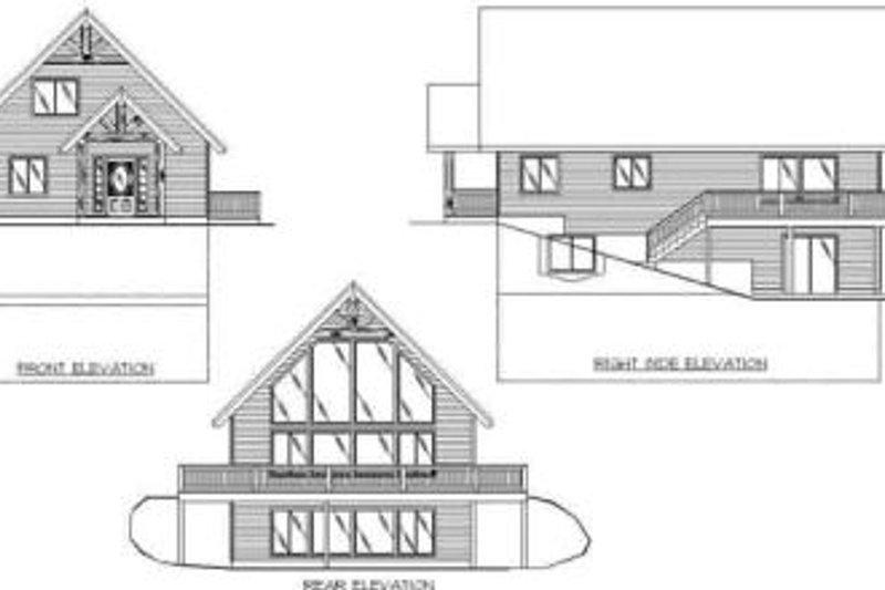 Modern Exterior - Rear Elevation Plan #117-267 - Houseplans.com