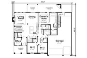 Traditional Style House Plan - 3 Beds 2.5 Baths 3704 Sq/Ft Plan #20-2344 Floor Plan - Main Floor Plan