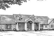 Ranch Style House Plan - 3 Beds 2.5 Baths 1562 Sq/Ft Plan #310-603 Exterior - Front Elevation