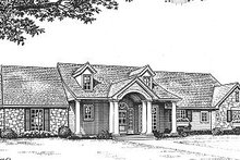 Architectural House Design - Ranch Exterior - Front Elevation Plan #310-603