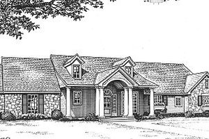 Ranch Exterior - Front Elevation Plan #310-603