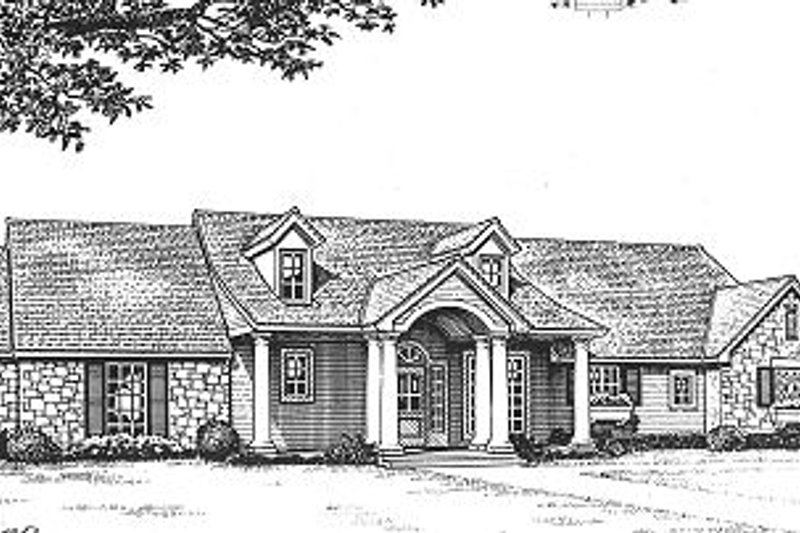 Dream House Plan - Ranch Exterior - Front Elevation Plan #310-603