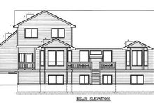 House Plan Design - Traditional Exterior - Rear Elevation Plan #98-203