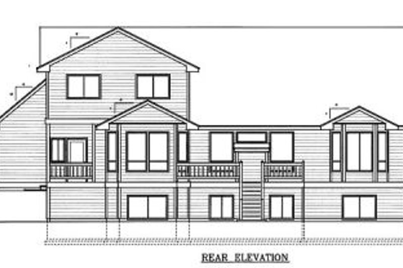 Traditional Exterior - Rear Elevation Plan #98-203 - Houseplans.com
