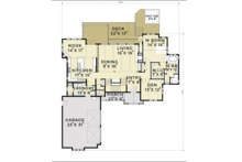 European Floor Plan - Main Floor Plan Plan #1070-6