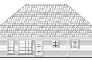 Traditional Style House Plan - 3 Beds 2 Baths 1625 Sq/Ft Plan #21-189 Exterior - Rear Elevation