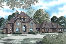 Architectural House Design - European style home, front elevation