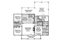 Country Floor Plan - Main Floor Plan Plan #21-394