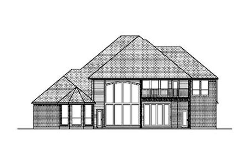 European Exterior - Rear Elevation Plan #84-428 - Houseplans.com