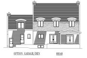 European Style House Plan - 4 Beds 2.5 Baths 2557 Sq/Ft Plan #138-285 Exterior - Rear Elevation