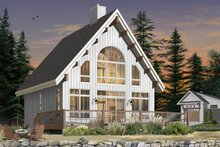 Dream House Plan - Cottage Exterior - Rear Elevation Plan #23-670