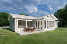 House Plan Design - Ranch Exterior - Outdoor Living Plan #126-209