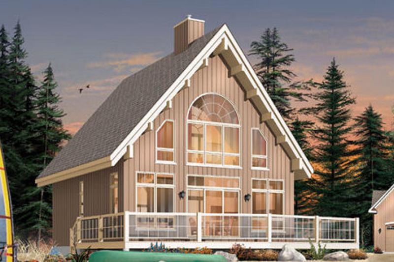 Cottage Exterior - Front Elevation Plan #23-670 - Houseplans.com