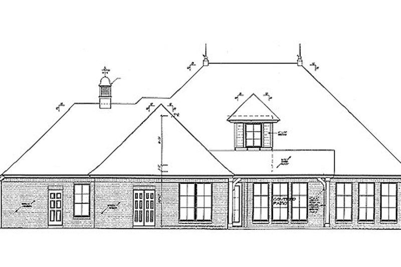 European Exterior - Rear Elevation Plan #310-699 - Houseplans.com