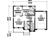 Traditional Style House Plan - 3 Beds 1 Baths 1688 Sq/Ft Plan #25-4577 Floor Plan - Main Floor Plan