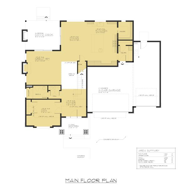 Contemporary Floor Plan - Main Floor Plan Plan #1066-63
