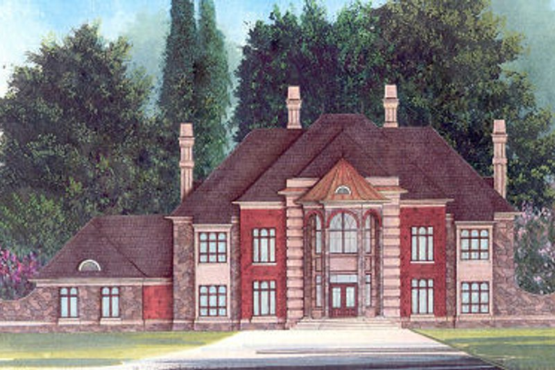 Colonial Exterior - Front Elevation Plan #119-311