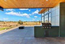 Contemporary Exterior - Covered Porch Plan #892-30
