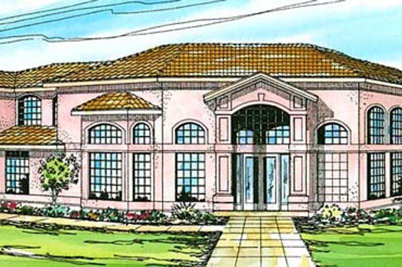 Dream House Plan - Mediterranean Exterior - Front Elevation Plan #124-234