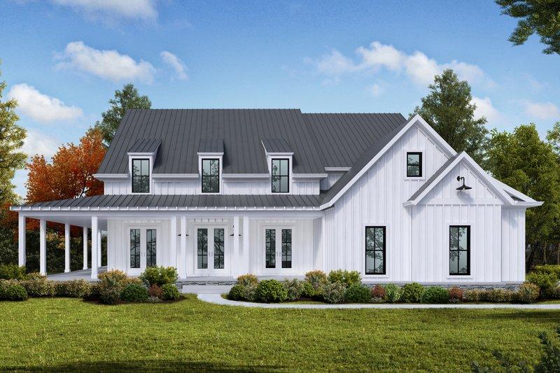 Dream House Plan - Farmhouse Exterior - Front Elevation Plan #54-379