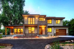 Home Plan Design - Contemporary Exterior - Front Elevation Plan #1042-19