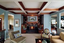 Craftsman Interior - Family Room Plan #928-18