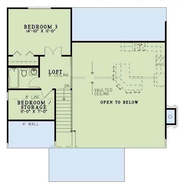 Cottage Floor Plan - Upper Floor Plan Plan #17-2018