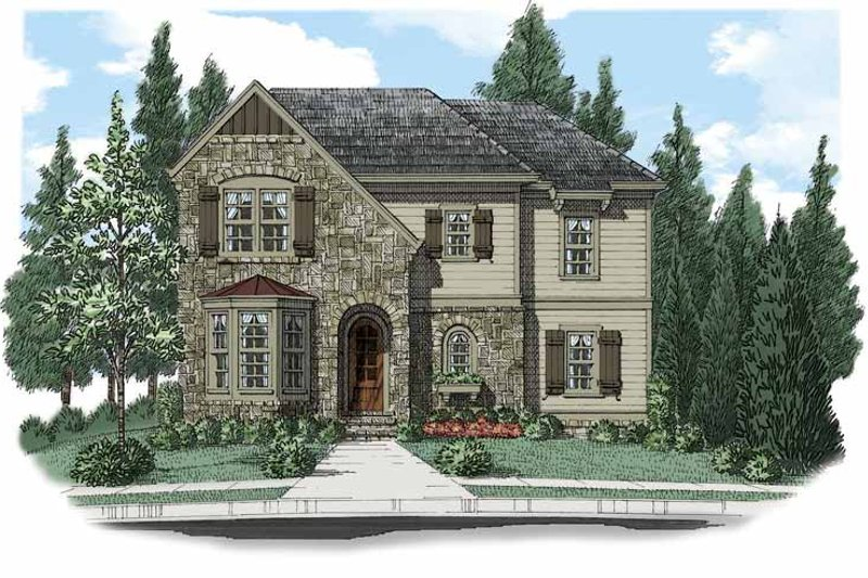 European Exterior - Front Elevation Plan #927-503