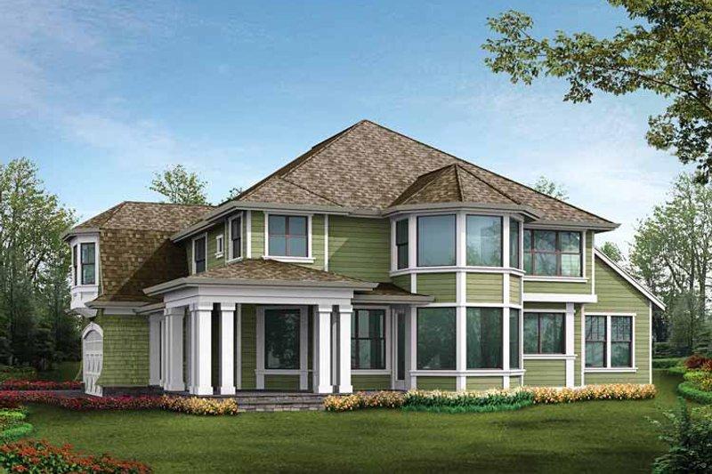 Craftsman Exterior - Rear Elevation Plan #132-458 - Houseplans.com