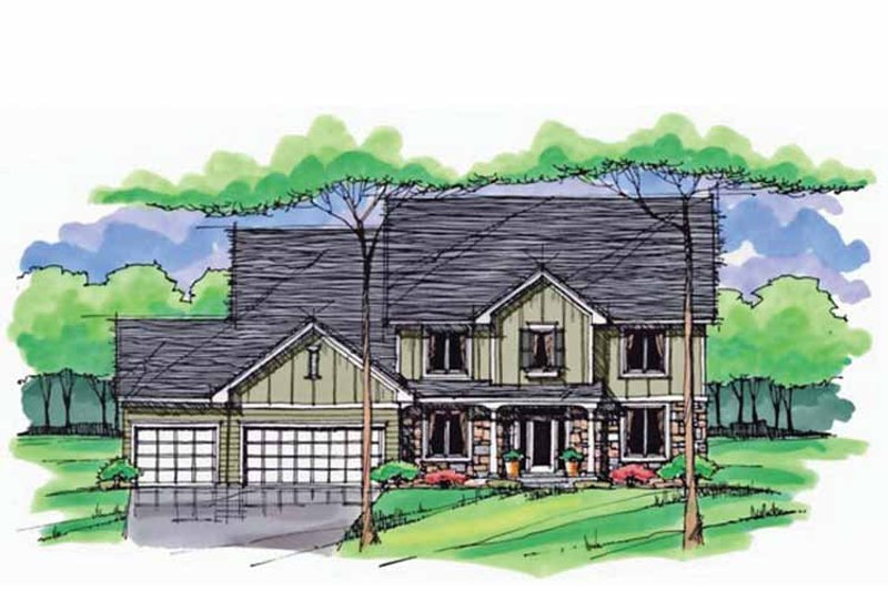 Country Exterior - Front Elevation Plan #51-1031