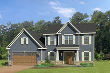 Craftsman Exterior - Front Elevation Plan #1010-114