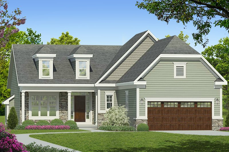 Architectural House Design - Ranch Exterior - Front Elevation Plan #1010-180