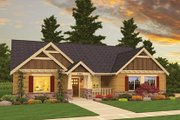 Craftsman Style House Plan - 3 Beds 2 Baths 1952 Sq/Ft Plan #943-45 Exterior - Front Elevation