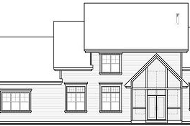 Craftsman Exterior - Rear Elevation Plan #23-832 - Houseplans.com