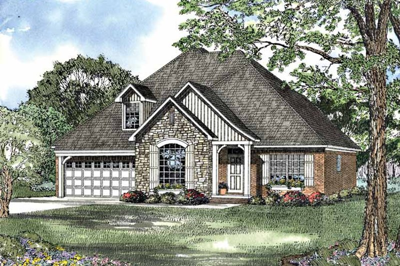 Country Exterior - Front Elevation Plan #17-3091