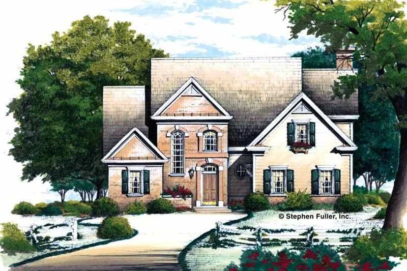 Colonial Exterior - Front Elevation Plan #429-328