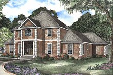 Colonial Exterior - Front Elevation Plan #17-3208