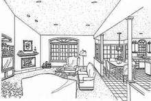 Country Interior - Family Room Plan #314-268